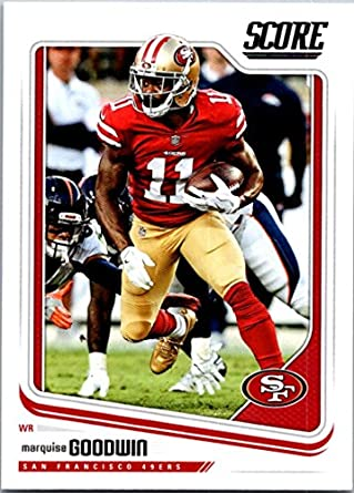 buy popular f5ef3 50a5a Amazon.com: 2018 Score #285 Marquise Goodwin San Francisco ...