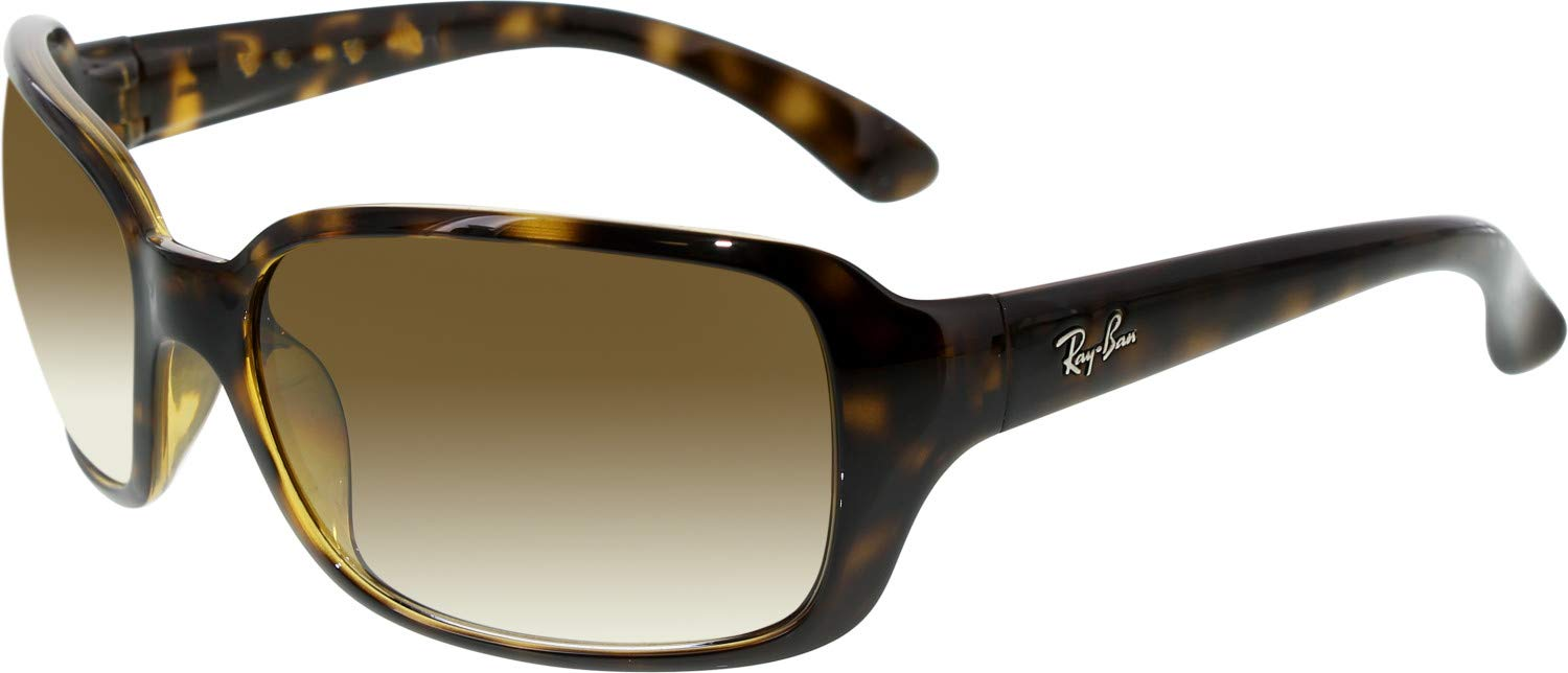RAY-BAN RB4068 Square Sunglasses, Light Havana/Brown Gradient, 60 mm by RAY-BAN
