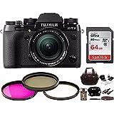 Fujifilm X-T2 Mirrorless Digital Camera w/18-55mm Lens w/Focus Gear Bag & 64GB Memory Card