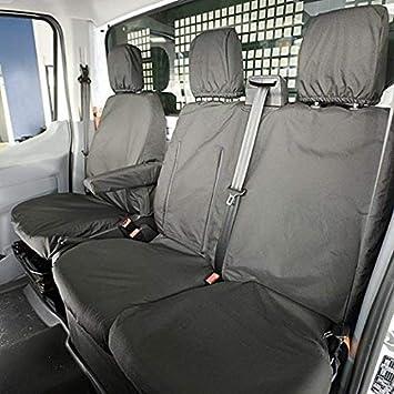 UK Custom Covers SC188B-SC189B Tailored Heavy Duty Waterproof Front /& Rear Seat Covers Black
