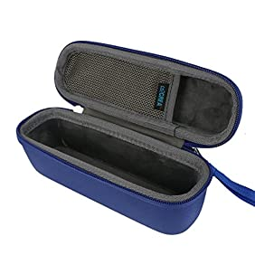 for Anker SoundCore 1 / 2 Portable Outdoor Sports bluetooth speaker Hard Travel Carrying Case Bag by co2CREA, Blue