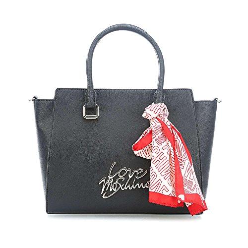 Con La Venta En Línea Mastercard Excelente Para La Venta Love Moschino Logo hand bag black Del Precio Barato De Italia Venta Barata Almacenista Geniue 8PB0jp2iSf