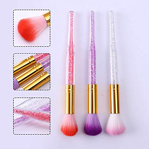 Soft Nail Brush Dust Remover Powder Cleaning Manicure Nail Art Tools Acrylic (Color - 02пј€Randomпј‰)