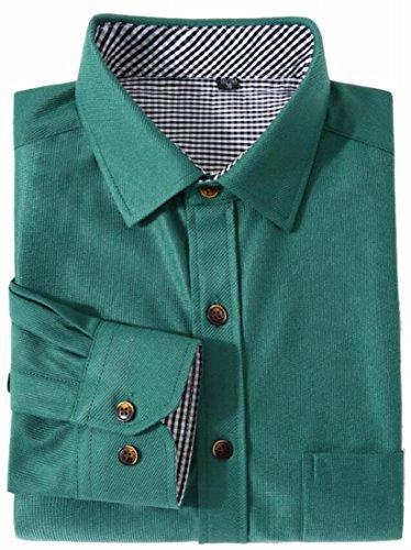 FLCH+YIGE Mens Solid Comfort Corduroy Long-Sleeved Shirt 5 L Corduroy Long Sleeved Shirt