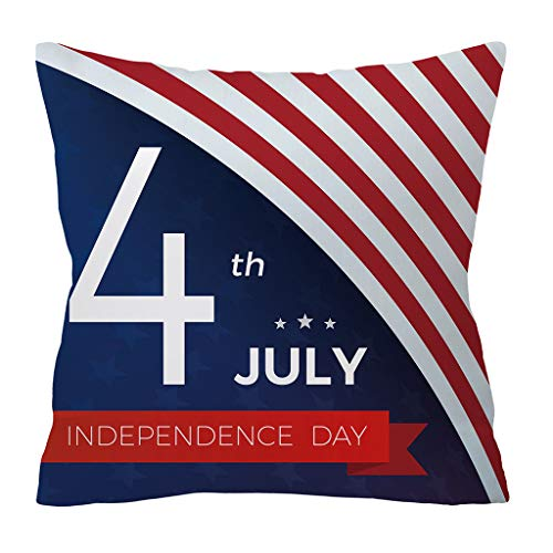(❤SU&YU❤Independence Day 4th of July Pillow Cases Sofa Cushion Cover Home Pillow Case (J))