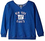 OTS NFL New York Giants Women's Singleback Fleece Pullover, Rush Valley, Small