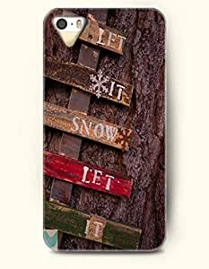 OOFIT iPhone 5 5s Case - Merry Xmas Let It Snow - Tree Trunk