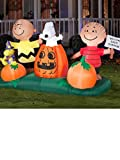 """HUGE 5 ft Airblown Inflatables Animated Peanuts """" The Great Pumpkin """" Patch Halloween Decoration"""