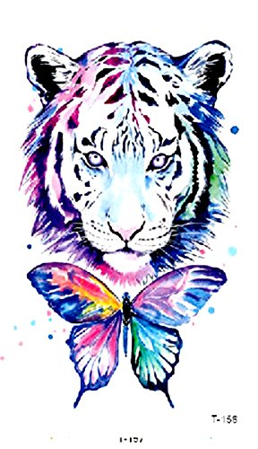 watercolor tiger butterfly temporary tattoo Stocking Stuffers -