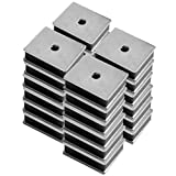 Master Magnetics CA41LWHX24 Magnet Fastener, Rectangular with Center Hole Zinc Plated, 1-Inch Length, 0.813-Inch Width, 0.313-Inch Height, 12 Pounds, Silver (Pack of 24)