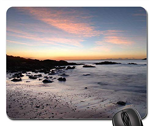 (Mouse Pad - Beach Low Light Sunrise Slow)