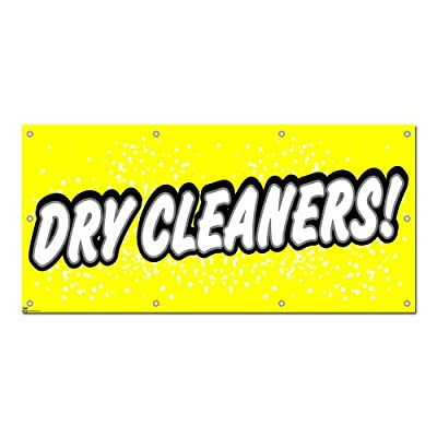 Dry Cleaners - Cleaning Laundry Promotion Business Sign 5'x2' Banner