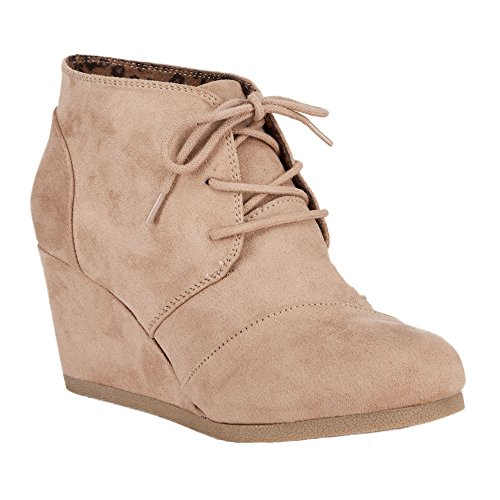 City Classified Rex Womens Wedges, Light Taupe, 6.5...