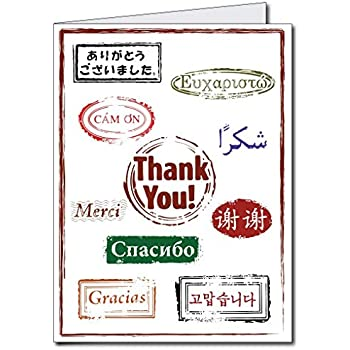 VictoryStore Jumbo Greeting Cards Giant Thank You Card Is Lots Of Languages 2 X 3 With Envelope