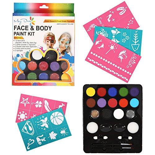 aqua colors face paint - 4