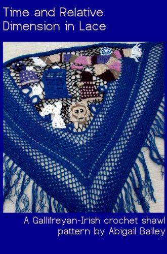Time and Relative Dimension in Lace - A Gallifreyan-Irish crochet shawl pattern