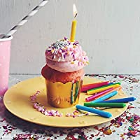 GoodLight Multi-Colored Birthday Candles, Paraffin Free, 12Count