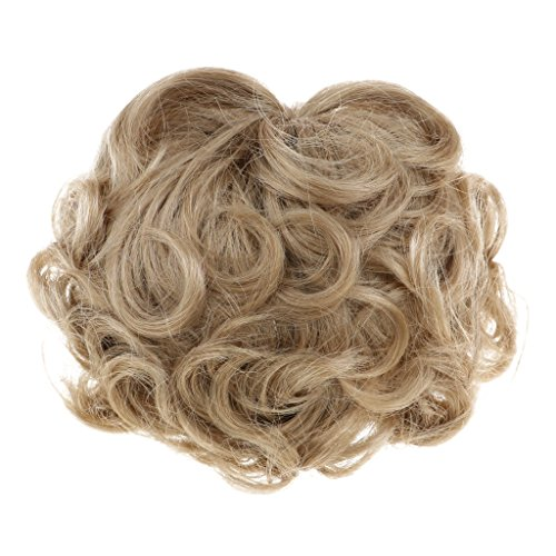 Light Mohair Brown (Baoblaze Imitation Mohair Short Curly Wig for Uncle Doll DIY Making Dress Accs Light Brown)