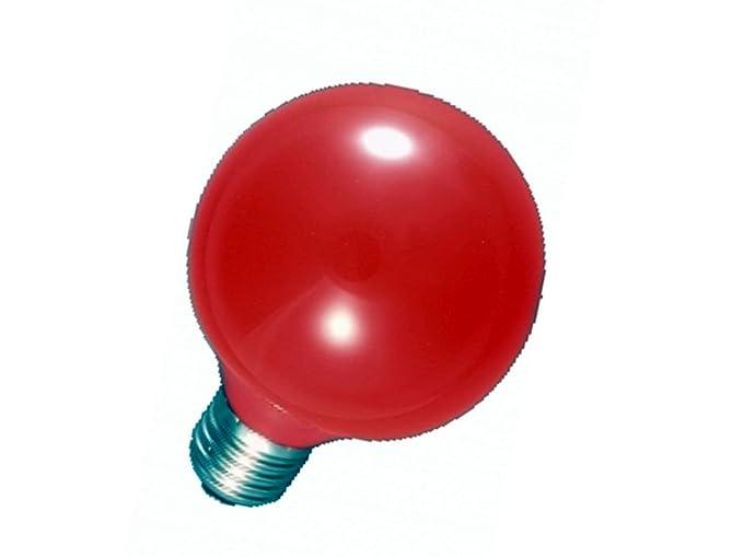 Lampade Globo A Basso Consumo : Lampada mini globo basso consumo colorata a luce rossa e w gbc
