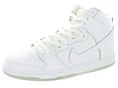promo code 26c6d 2a409 Nike Men s Dunk High Pro SB White White Lt Base Grey Skate Shoe 9