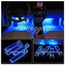 4x Bleu LED Lampe Ampoule Déco Tuning Voiture Intérieur Allume Cigare Dc 12v #F