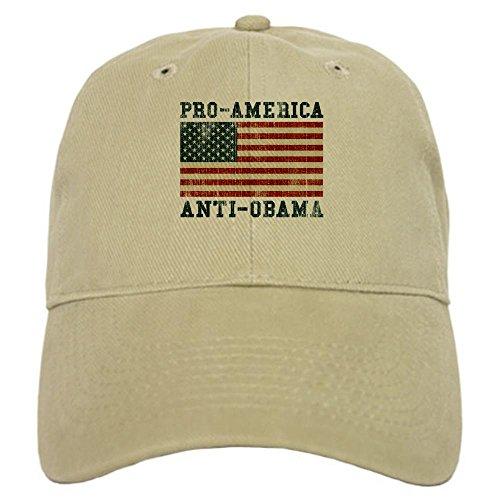 CafePress - V. Pro-America Anti-Obama Cap - Baseball Cap with Adjustable Closure, Unique Printed Baseball Hat - Anti Obama Cap