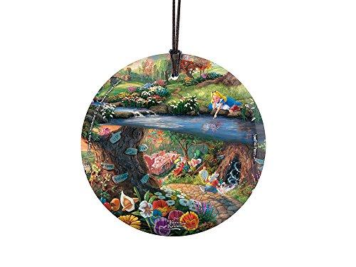(Trend Setters Thomas Kinkade Artwork Alice in Wonderland Starfire Prints Hanging Glass)