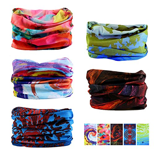 Headband Cloth (Oureamod Wide Headbands for Men and Women Athletic Moisture Wicking Headwear for Sports,Workout,Yoga Multi Function (Pattern 4))