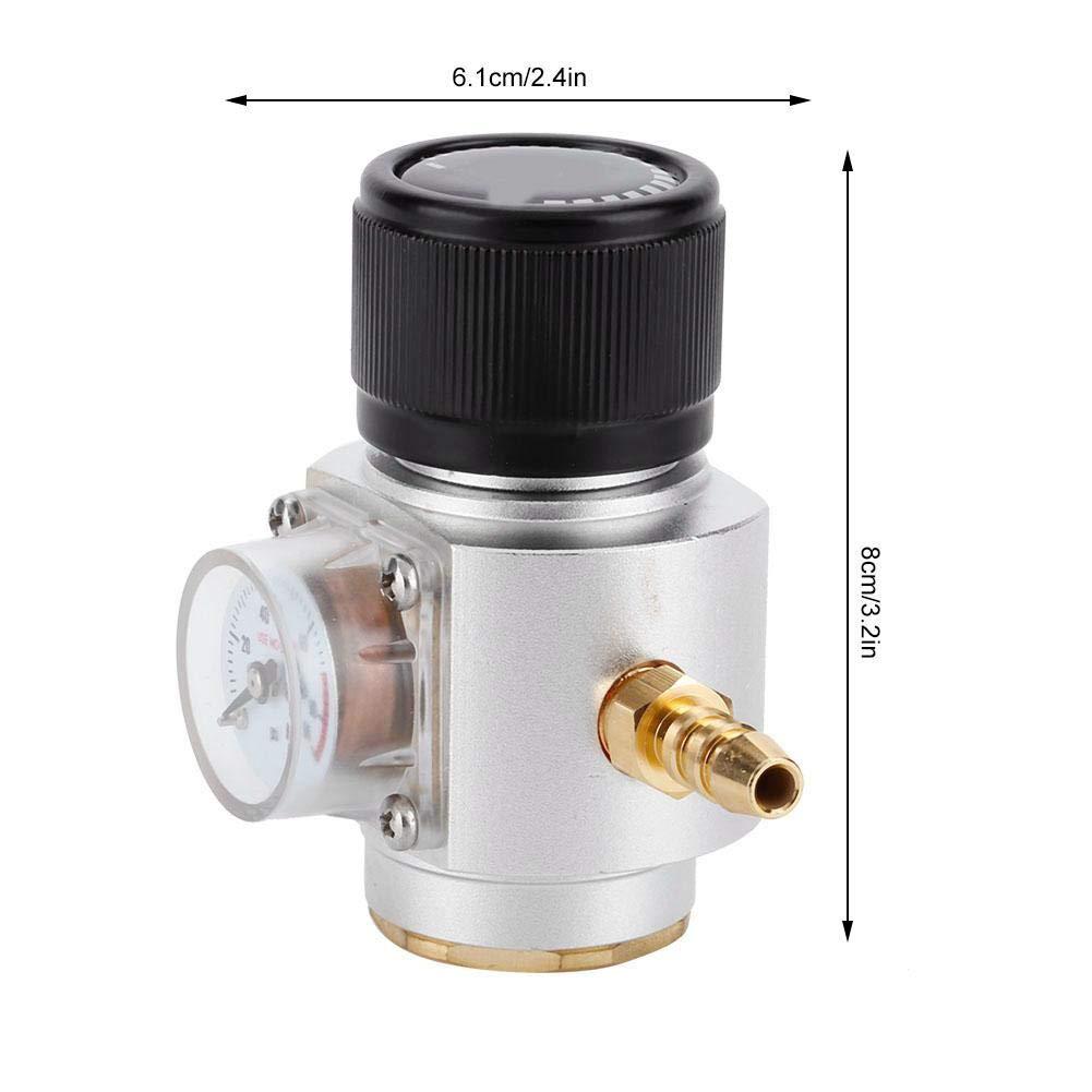 4 Calibre de presi/ón de Soda Kit de Cargador de CO2 Kegerador de Cerveza Home Draft Botella de Cerveza Homebrew Accesorios T21 0-90PSI Mini Regulador de Gas de CO2