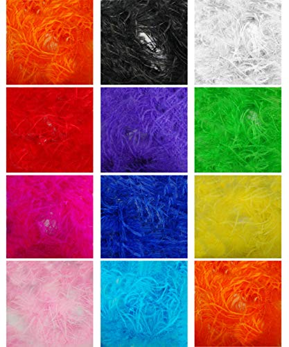 Marabou & 11cms Ostrich Feather Sprigs Boa Fur Scarf 2 Yards. More Fuller Luxurious Feel & Drape, Burlesque Dancing, Costume, Fancy Dress. 11 Stunning Colours, Beautiful Soft Natural, Neotrims