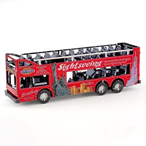 Fascinations Metal Earth Big Apple Tour Bus 3D Metal Model Kit