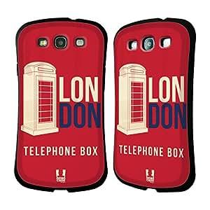 Head Case Designs Telephone Box Londons Best Hybrid Gel Back Case for Samsung Galaxy S3 III I9300