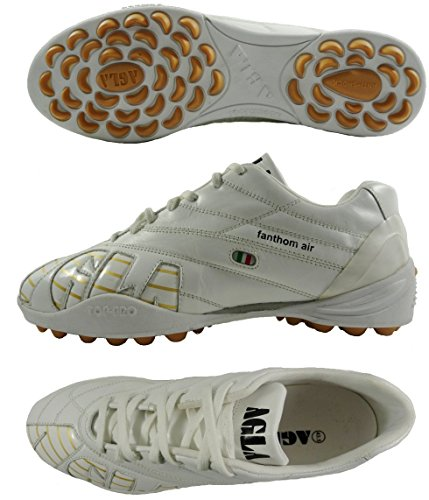 PROFESSIONAL AGLA FANTHOM AIR OUTDOOR zapatos de fútbol con tapa anti-shock blanco