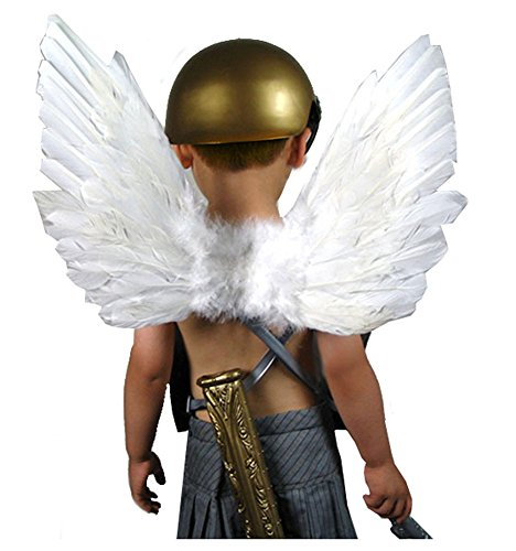 (SACASUSA (TM) New Feather White Fairy Angel Wings For Children Kids)
