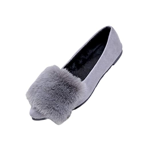 Zapatos De Mujer Chaussure De OtoñO con Punta Plana Y TacóN Bajo Boca Baja MáS Terciopelo Invierno Mocasines para Mujer: Amazon.es: Zapatos y complementos