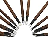 CSLU 11pcs Stone Carving Tool Chisels/Knife Set Kit Mn Alloy Steel with Portable Bag