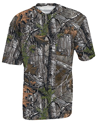 Walls Boy's Hunting Short Sleeve Pocket T-Shirt, Real Tree Xtra, L Regular (T Tree Real Shirts)