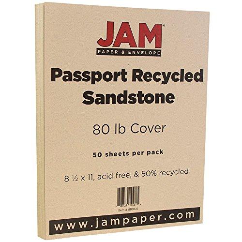 jam-paper-recycled-cardstock-85-x-11-80-lb-passport-sandstone-brown-50-pack