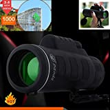 AutumnFall 2018 New Arrival Super High Power 40X60 Portable HD OPTICS BAK4 Night Vision Monocular Telescope Single Hand Operation (Black)