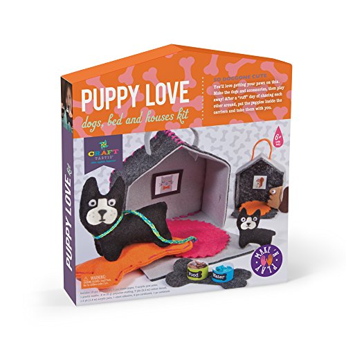 Craft-tastic – Puppy Love – Make and Play Kit Includes Dog and Puppy-Themed Craft Projects ()