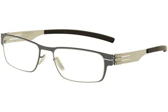 50c1dbd7f7d Image Unavailable. Image not available for. Color  ic! Berlin Rast  Taubenblau Pearl Metal Rectangle Eyeglasses 51mm