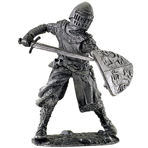Italy. Florence Knight. 13th century. Metal sculpture. Collection 54mm (scale 1/32) miniature figurine. Tin toy soldiers