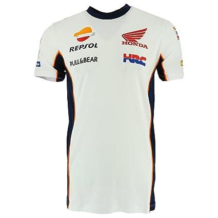 Repsol Racing Honda MotoGP 2018 Mens Team T-Shirt TEE White Marquez /& Pedrosa
