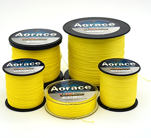 Aorace Braid Fishing Line 25LB Strong and Abrasion Resistant 500M Fiber Material Fishing Line Yellow Advanced Superline Review