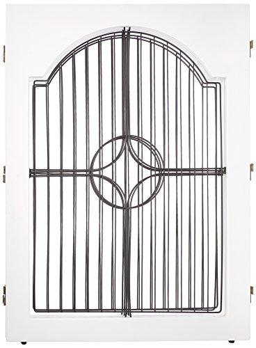 Universal Free Standing Pet Gate (Wire insert & White)
