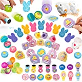 PartySticks Easter Basket Supplies - 100 Pc Easter Basket Stuffers for Kids w/ Fillable Plastic Easter Eggs, Easter Egg Hunt Toys and Easter Egg Fillers for Kids