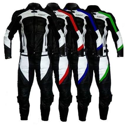 WinNet de chándal para motos ajustable 2 piezas piel, color verde ...