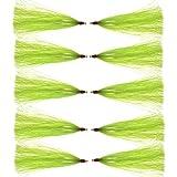 Fishing Mylar Flash Teaser Tail - 6pcs/12pcs Saltwater Bucktail Teaser, Bucktail Sliding Teaser Teasers, Plugs, Fluke Rigs