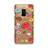 Samsung Galaxy S9 Case,Blingy's New Donut Style Transparent Clear Soft TPU Protective Rubber Case for Samsung Galaxy S9 (Various Donuts)