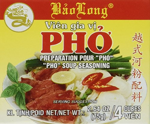 Bao Long Pho Spice Cubes, Beef Flavor Soup Seasoning 3-pack,12 Cubes Total